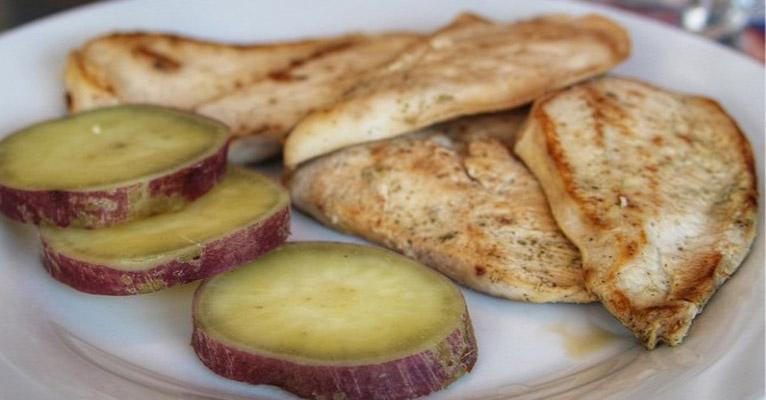 Dieta Fitness frango com batata doce