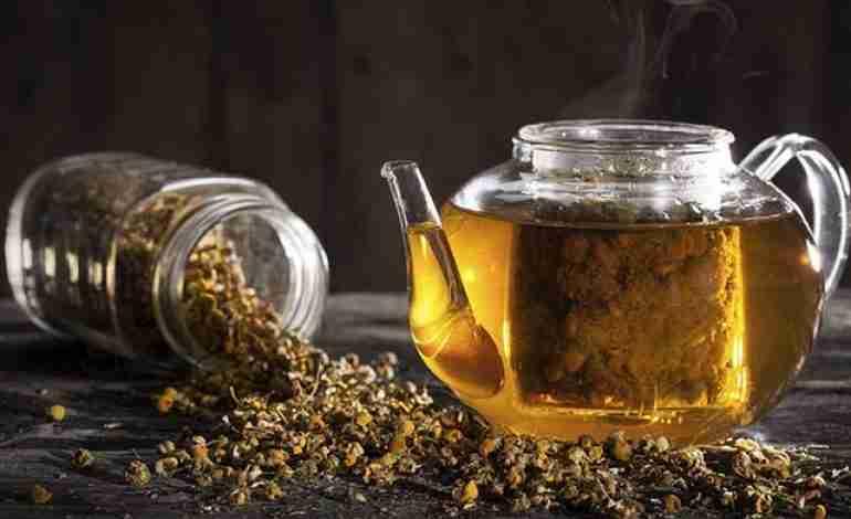 pote chá de camomila